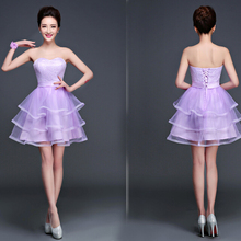 elegant lavender formal short cocktail dresses beautiful sweetheart ball party dress with tulle for teen free shipping S2708