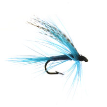 10PCS 12# Blue Color Grizzly  Wing May Fly Trout Fishing Bugs Free Box Package