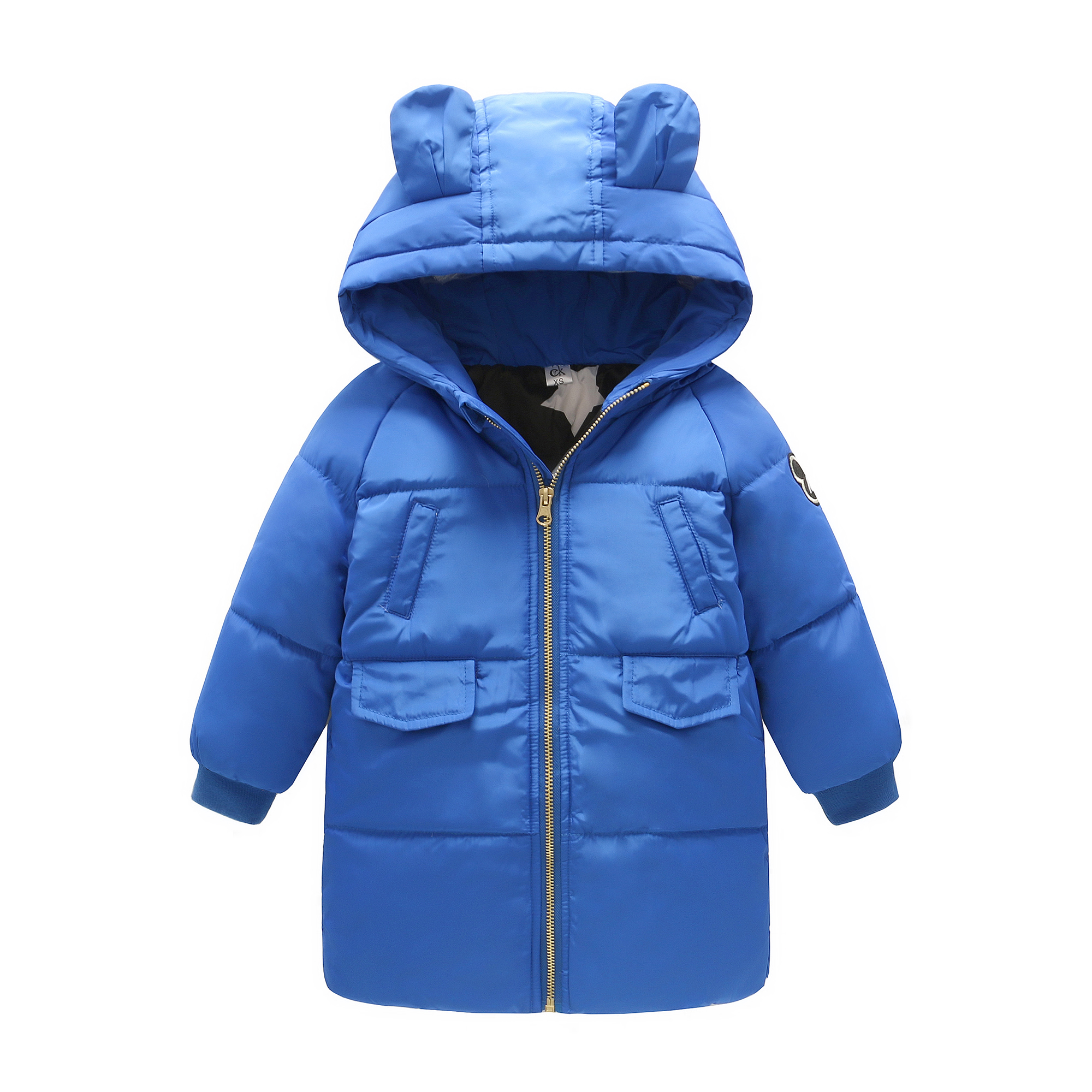 2017 winter children midem long cute hooded thicken jackets girls wadded trench coats kids parkas down boys outdoor coats years<br>