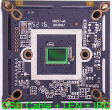 "1080P AHD-H 1/2.9"" Sony Exmor CMOS IMX323 + NVP2470 CCTV board camera module PCB board + OSD cable + 2.0MP LEN + IRC(China)"