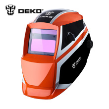 DEKOPRO Orange Mega Solar Auto Darkening MIG MMA Electric Welding Mask/Helmet/Welding Lens for Welding Machine or Plasma Cutter(China)