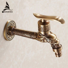 Antique Bronze Dragon Carved Tap Animal Shape Faucet Garden Bibcock Washing Machine Faucet Outdoor Faucet For Garden HJ-7663F
