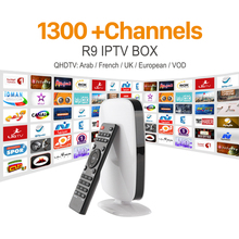IPTV BOX R9 Rockchip RK3229 Wifi  IP TV Box H.265 4K 1 year subscription Support HD 1300+ HD Channels Italy UK Germany Spanish