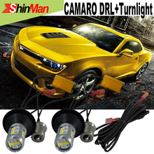 2x New Design Car LED For Chevrolet Camaro DRL Car LED light 20W LED Daytime Running Lights DRL&Front Turn Signals  All In One