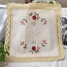 HOT table place mat lace cotton cloth pad crochet placemat drink pot cup mug holder glass coaster felt doily kitchen tableware(China)