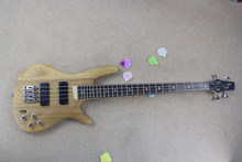 Wholesale best Pickups + elm body + rosewood fretboard 4 strings Burlywood bass guitar in stock -15-625(China)