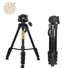 QZSD Q111 4.8ft 4 Section Portable Lightweight Aluminum Alloy Camera Tripod for Travel For Canon Nikon Stand Photo Accessories
