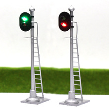JTD433 2pcs Model Traffic Light Traffic singal Model Railroad Train Signals 3-Lights Block Signal 1:43 O Scale railway modeling