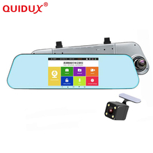 Buy QUIDUX Car DVR Dash Cam Full HD 1080P 5 Inch IPS Dual Lens RearView Mirror Camcorder Auto Video Registrator Camera Recorder ADAS for $70.98 in AliExpress store