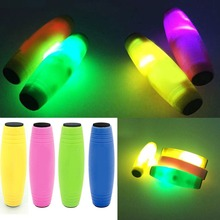 2017 New Magical Reaction LED Lighted Toys Hand Tumbling Decompression Fidget Stick Focus Fun Finger Toy Stress Anxiety Relief
