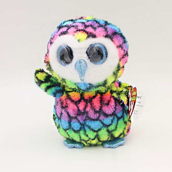 Owl Stuffed Animals Toys Beanie Boos Big Eyes Plush Doll For Child Baby Kids(China (Mainland))