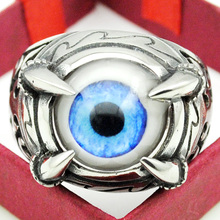 Fashion Blue Eyes Claw Rings For Men Women 316L Stainless Steel Charm Cool High Quality Rock Punk Style Jewelry Party Gift HR293