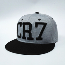 2016 new Cristiano Ronaldo gray CR7 Baseball Caps hip hop Sports Football hat men&women Snapback cap