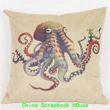 PANFELOU 45*45cm Comfortable Purple eight feet deep octopus Hold Pillow Case for livingroom bedroom settee(China)