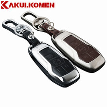High grade Zinc alloy Leather Car Key fob Case Key Bag For Lincoln MKZ MKC MKX Start Stop Engine System Key Chain Car key Covers