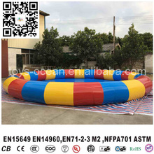 outdoor colorful Inflatable large round swimming pool for water games(China)