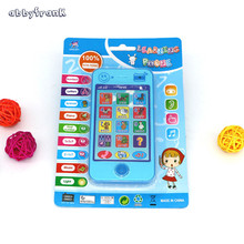 Abbyfrank Russian Language Kids Learning Educational Toys Phone Machines Musical Cell Phone For Children Brinquedos Educativo(China)