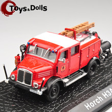 1:72 Horch H3A Alloy Diecast Fire Truck Model Diecast Car Kids Toys Collection Gifts