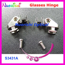 50sets or 100pcs Good Quality Glasses Eyeglass Eyewear Spring Hinge Screws S3431A S3433B Free Shipping