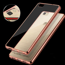 Buy Luxury Glitter Bling Transparent Soft Silicone Case Back Cover Huawei P8 / P8 Lite / P9 Lite Plating TPU Mobile Phone Cases for $1.20 in AliExpress store