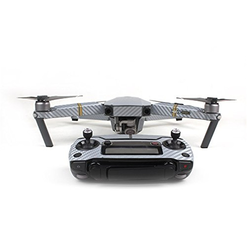 Waterproof Carbon Graphic Sticker Decals for DJI Mavic PRO Camera Drone Body/Remote Controller/ Battery/ Arm – Sliver