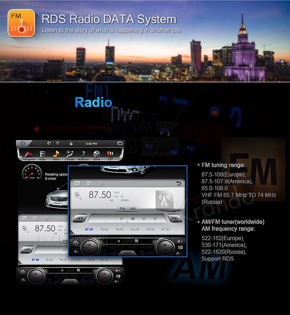 Krando tesla vertical screen land cruiser 2008-2015 Android car radio gps navigation multimedia system (3)