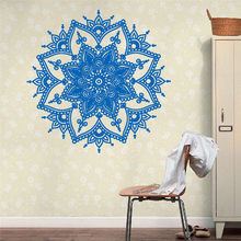 Mandala Flower Indian Bedroom Wall Decal Art Stickers Mural Home Vinyl Family home decoration accessories wall stickers A20(China)