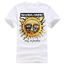 Best T Shirts Sublime 40Oz To Freedom Short-Sleeve Casual O-Neck Crew Neck Regular Short Tee Shirt For Men(China)