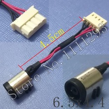 1pcs/lot OEM New DC Power Jack Connector IN Cable for Sony F14A etc Laptop 6.5x4.4