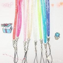 Colorful Bling Diamond Cute Neck Strap for Mobile Phone Case 9 Colors Gift Lanyards for iPhone Xiaomi