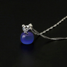 Jewelry Necklaces  New Arrival Hot Sale Fashion Accesories Crystal Cat's Eye Small for apple Pendant Necklace Women Gift