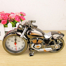 Motorcycle alarm clock retro alarm clock creative home furnishings ornaments car models modeling student gifts wholesale