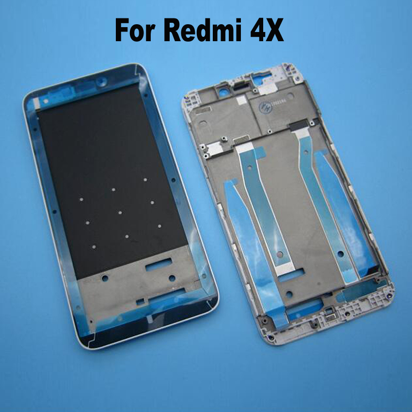 Black/Whtie/Gold for Hongmi 4x Front LCD Housing Middle Faceplate Frame Bezel Replacement Parts for Xiaomi Redmi 4X