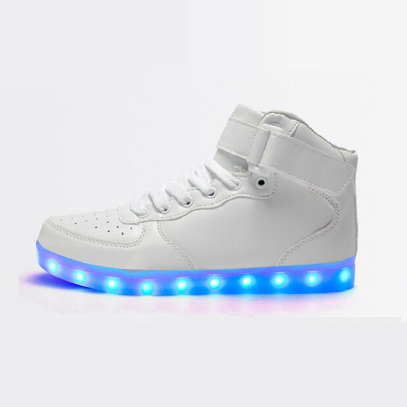 2017 Winter high-top Lighted trainers shoes Led luminous shoes for men Unisex,Welcome to resell,With perfect customer service<br><br>Aliexpress