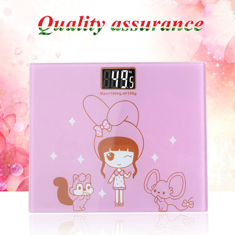 1 pc toughened glass smart household scales electronic body bariatric LCD display division bathroom weighting scale max 180kg <br>