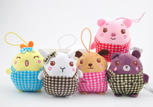1piece random design cute little 9cm bowknot animals plush toys - kawaii bear , rabbit etc. Plush Stuffed Toy Doll