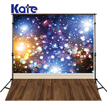 Kate Shiny Fantasy Background Photography Colour Spot Lighting Bling Bling Sky Wood Floor Backdrops For Photo Studio