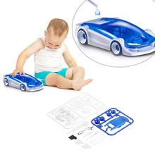 Baby Funny toy car salt water fuel car vehicle New DIY Kits Salt Water Fuel Car Green Energy Assembled Toys Children Hot Sale