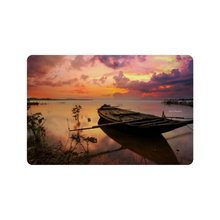 Buy Custom sunset boat Print Doormat Drying Wet Feet (23.6 X 15.7 Inch) for $13.80 in AliExpress store