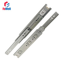 2pcs 16inch Drawer Slides 45mm Width Cold-Rolled Steel Fold Telescopic Drawer Runner Ball Bearing Furniture Cabinet Sliding(China)