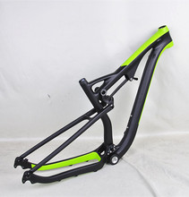 MTB 29ER Carbon Full Suspension Mountain Bike Frame Carbon MTB Frame Full Suspension paint in UD/Green Colors(China)