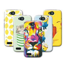 Fruit Art Print Minions Banana Cat lion Cartoon Soft  Silicone Case ZTE Blade GF3 T320 Case Cover fundas For ZTE GF3+Free Pen