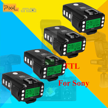 4x PIXEL KING PRO For Sony MI Shoe Camera TTL HSS 1/8000S LCD Flash Triggers Controls Canon Nikon Speedlite On King Pro Receiver(China)