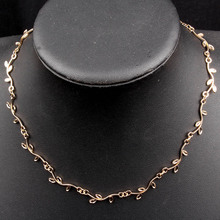 New Arrival Hot sale Fashion Trend Necklaces Leaves Chain Hand Chain Necklace Jewelry For Women Valentine Gifts XL7227
