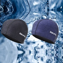 Men's Professional Swimming Caps Pure Color Swimming Hat Pool Wear Protect Ears Durability Men Bathing Cap Swim Caps for Men