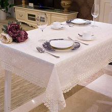 New Pastoral Glass Yarn Lace Embroidery Table Cloth Beautiful Lace Floral Tablecloth TV Tea Table Cover Hot Sale