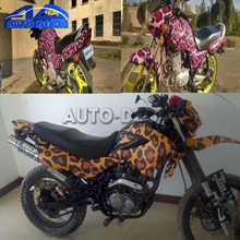 Leopard Design Grain Vinyl Film Car ROOF Motorcycle Scooter Decal Animal Skin Graphic Sticker Bomb Wrap with AIR Bubble Free