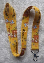 20 Pcs/Lot San-X Rilakkuma PHONE LANYARD KEYS ID NECK STRAPS Wholesale