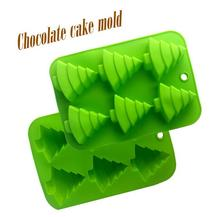 1PCS Christmas Tree Shape Silicone Mold, Jelly, Chocolate, Soap ,Cake Decorating DIY Kitchenware ,Bakeware D006 Random color
