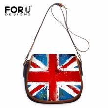FORUDESIGNS Classic Cross Body Shoulder Bags for Women Colorful US UK Flag PU Handbags Ladies Famous Brand Crossbody Bag Casual(China)